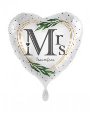 Mrs Traumfrau Herz Folienballon Satin