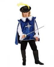 Musketier Kinderkostüm blau M