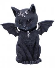 Okkulte Katzenfigur mit Fledermaus Flügel