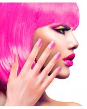 Neon Airbrush Fingernägel Neon Pink