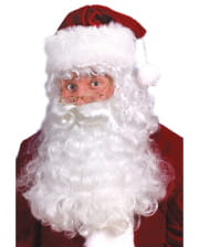 Santa Claus Wig & Beard Set Dlx.