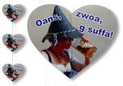 Oans Zwoa Gsuffa Hanging Garland