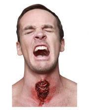 Luftröhrenschnitt Latexwunde