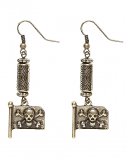 Earrings With Pirate Flag As Costume Accessory