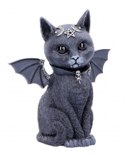 Occult Cat Figurine With Bat Wings 24cm