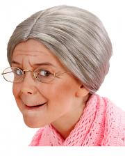 Grey Grandma Children Wig With Knots