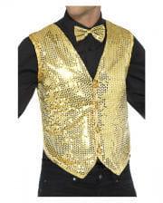 Sequined Vest For Men Gold
