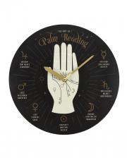 Palmistry Wahrsage Hand Wanduhr 28cm
