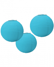 Paper Lantern Set 3 Pcs. Light Blue