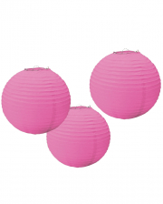 Papier Lampion Set 3 tlg. Pink