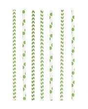 24 Paper Straws Green