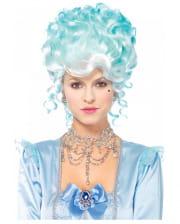 Pastel Baroque Powder Wig Light Blue