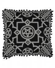 Pentagramm Kissenbezug Blair Black 45x45cm