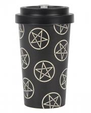Pentagram Motif To Go Bamboo Mug