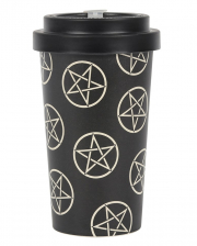 Pentagramm Motiv To Go Bambusbecher