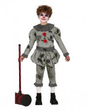 Pepe der Horrorclown Kinder Kostüm