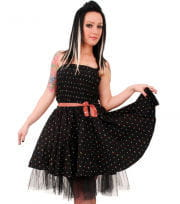 Mini petticoat dress with cherries