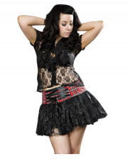 Burleska plaid mini skirt