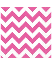 Pink Zig-zag Napkins 20 Pcs.