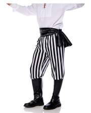 Pirate costume trousers black-white striped