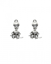 Pirate Earclips With Skull