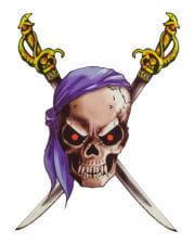 Pirate Tattoo with Bandana and sabers