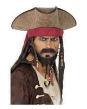 Piratenhut mit Dreadlock-Haaren