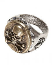 Metal pirate ring with skull