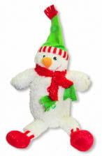 Plüsch Schneemann mit grüner Mütze