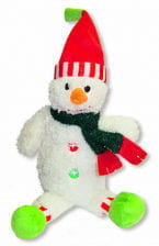Plush snowman with red cap
