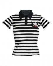 Poloshirt weiß-schwarz