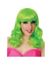 Popstar wig neon green