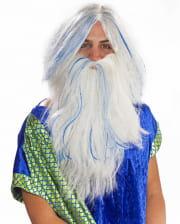 Poseidon Wig White-blue