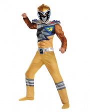 Power Ranger Gold Ranger Dino Charge Muscle Costume