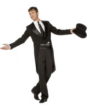 Premium Kostüm-Frack Herren schwarz