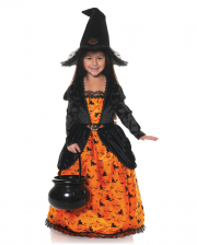 Pumpkin Hexe mit Hut Kinderkostüm