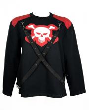 Skull Sweatshirt mit Bändern