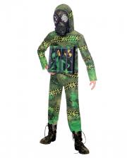 Quarantine Zombie Alien Child Costume