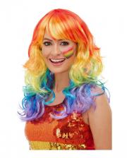 Rainbow Glam Wig