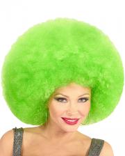 Riesige Afro Perücke Grün