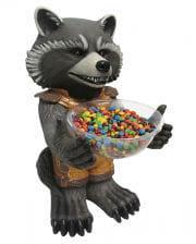 Rocket raccoon candy holder