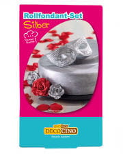Rollfondant - Set Silber