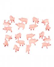 Rosa Glückschweinchen 100 Stück 2 x 1 cm
