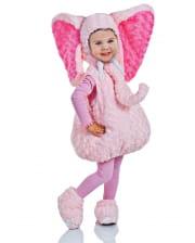 Pink Plush Elephant Toddler Costume