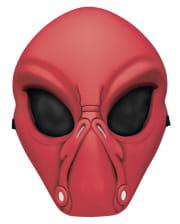 Rote Alien Halbmaske