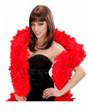 Red feather boa in show quality