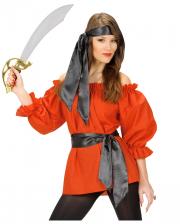 Piraten Bluse Rot