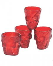 Red Skull Shot Glasses 4pcs.