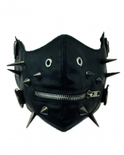 Sado Punk Half Mask With Spikes