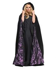 Samt Kapuzenumhang schwarz-violett